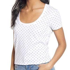 Nordstrom BP. Polka Dot T-shirt  Plus 2X